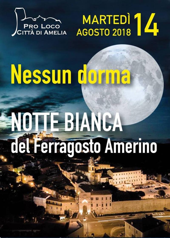 Nessun Dorma: Notte Bianca di Amelia 2018
